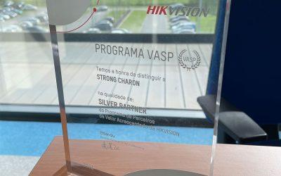 """A nossa parceria com a Hikvision tem certificação """"Silver Partner"""""""